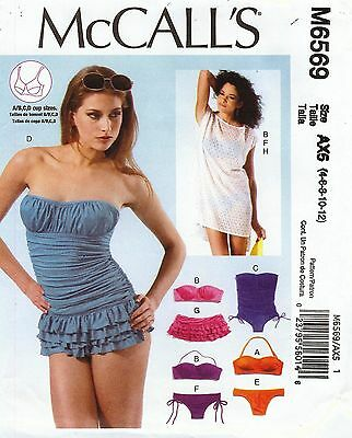 McCall's Pattern 6569 Swim Suit Sized to Fit My Size Barbie