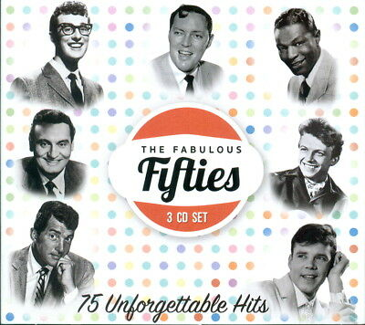 The Fabulous Fifties : 75 Unforgettable Hits 3 Cd Set 2017