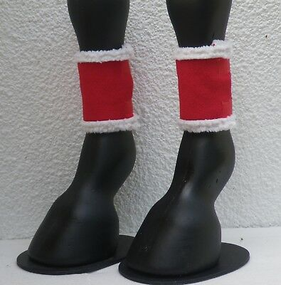 Christmas Horse Pony Leg Bands Festive Fun One Pair