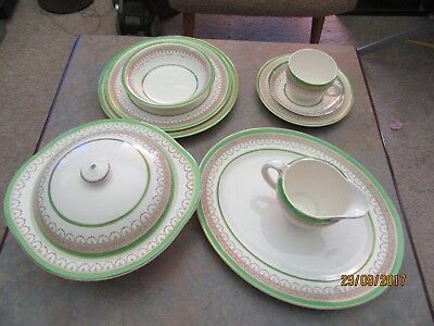 Vintage Burleigh ware Burgess and Leigh fine china 6 piece dinner set