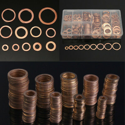 Universal 400pcs Copper Washers Sump Plug Washer Set Hardware Springs for Car