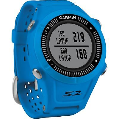 Garmin Approach S2 GPS Golf Watch with 38,000 Worldwide Courses - Blue