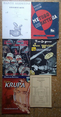 6 drums method metodi batteria drum Krupa Agostini De Piscopo Jazz, NO CD