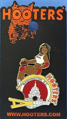 New! Hooters Football Girl Washington, D.c. Lapel Pin - Helmet/capital