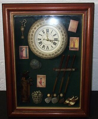 Framed Golf Paraphernalia Gift