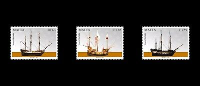 2017 Maritime Malta Series V - Vessels of the Order Mint NH set of 3 VF SG1995/7