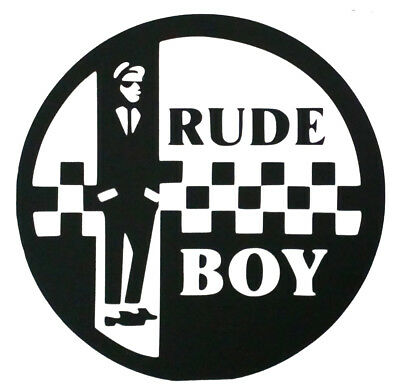 Ska Two Tone Mod Rude Boy Scooter Vinyl Decal Car Window Bumper Sticker