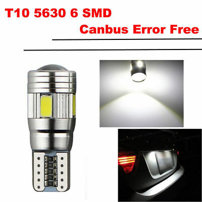 10Stk T10 6 SMD 5630 CREE CHIP LED Xenon w5w Canbus Standlicht Weiß