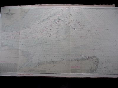 "1970 THAMES ESTUARY Southern Part - Admiralty Nautical Sea Map 28"" x 49"" B95"
