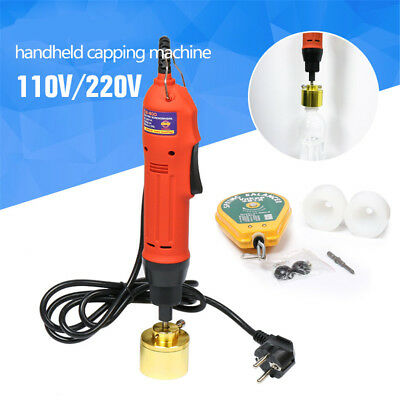 110V/220V Electric Capping Machine Handheld Manual Bottle Cap Sealer 10-30 mm