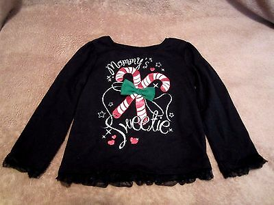 Baby Girls Toddler Mommy's Sweetie Holiday Graphic Long Sleeve Shirt Size 24M