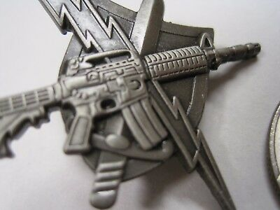 Tactical Patrol Officer Unit Pin Pewter Or Bronze Official Center Mass Ending