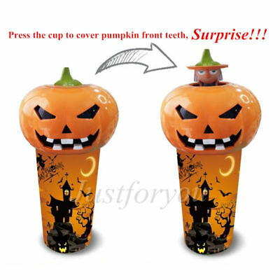 Novelty Halloween 3D Pumpkin Little Witch Doll Toy Cup 22 oz Drinking Sippy Cup