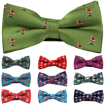 Mens Novelty Christmas Bow Tie Festive Party Secret Santa Gift - Stocking Filler