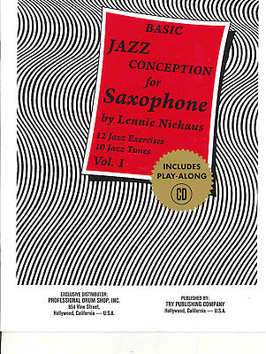 BASIC JAZZ CONCEPTION for SAXOPHONE Vol 1 Book & CD Lennie Niehaus *Clearance*