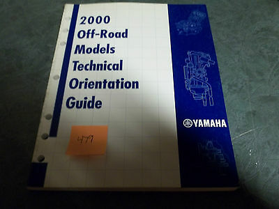 Yamaha dealer manual  technical orientation off-road  2000