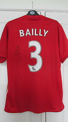 """SIGNED """" ERIC BAILLY - MANCHESTER UNITED """" 2016/17 HOME Shirt (COA)"""