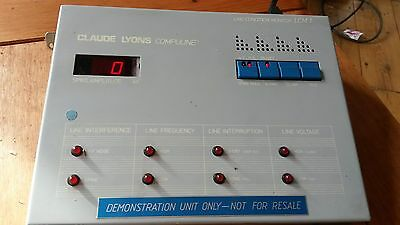 LCM 1 line condition monitor BY CLAUDE LYONS