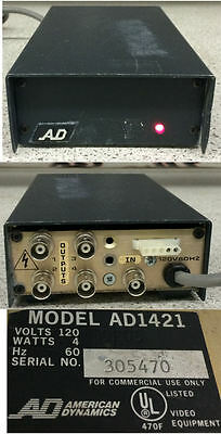 American Dynamics AD1421 Video Distribution Amplifier 1 In 4 Out