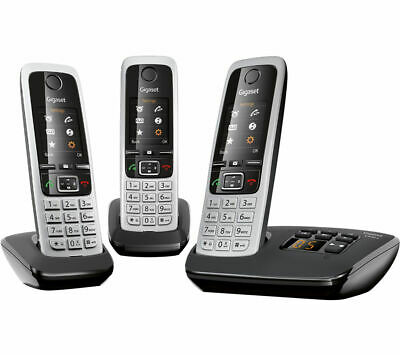 GIGASET C430A Trio Cordless Phone with Answering Machine - Triple Handsets