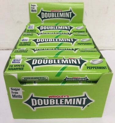Wrigleys Doublemint Peppermint Mints Roll 16 Mints (Pack of 24)