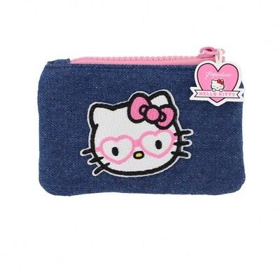 BNWT Paperchase Hello Kitty Blue Denim Coin Purse RRP £12