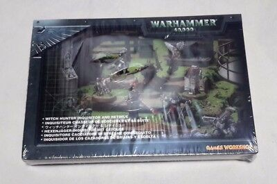 WARHAMMER 40K Witch Hunter Inquisitor and Retinue METAL NEW AND SEALED
