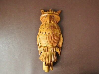 Art Deco Black Forest Coat Hanger - Swing Wing Owl Coat Hanger - Wooden Hanger
