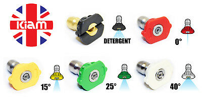 Set of 5 Quick Release Nozzle Jets for High Pressure Washer (SELECT NOZZLE SIZE)