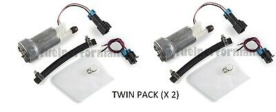 GENUINE WALBRO 450LPH High Performance Fuel Pump + Install Kit E85 *TWIN PACK*