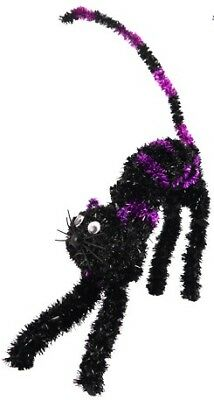 23cm Tinsel Cat (Assorted Colours)