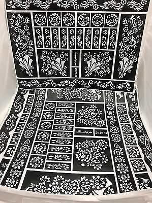 Henna Stencil Mehndi Stencils Arabic/Indian Style Pack Of 4 Pages