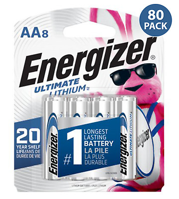 Energizer L91 AA Ultimate Lithium 1.5V Battery (80 Pack)