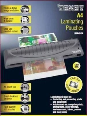 Texet A4 laminating pouches 150 microns pack of 100  - LMA4BOX