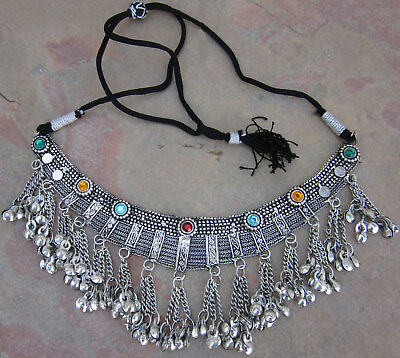 Tribal Statement Choker Necklace Vintage Boho Gypsy Kuchi Afghan Fashion Jewelry
