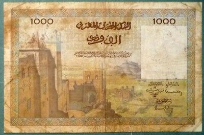 Morocco 1000 1 000 Dirhams   Note , P 47,  Issued 15.11. 1956