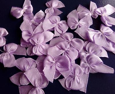 25 x Small Satin Bows ~ LILAC ~ Ideal for Craft Projects, Card-making