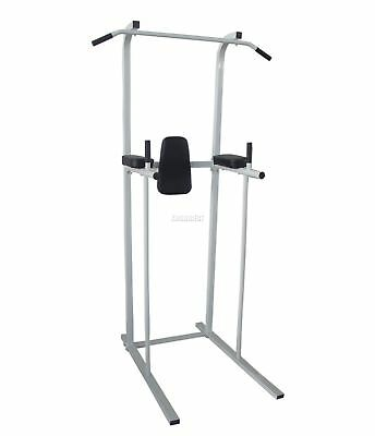 FoxHunter Fitness Power Tower Dip Gym Station 1 Abs Pull Up Bar Knee Leg Raise