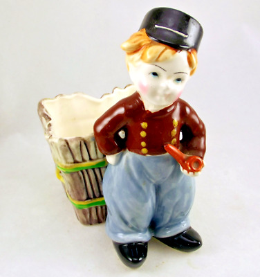 Napco Dutch Boy Ceramic Planter S662 Japan Vintage 1950s Made in Japan