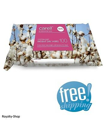 Carell Patient Dry Wipes - Cotton Soft - 100 Wipes