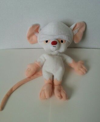 Animaniacs Pinky and the Brain Beanie Plush Mouse Warner Bros Studio Store 1998
