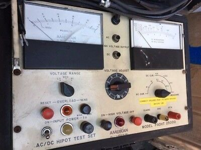 American HV PADHT 25000 AC/DC Hipot Test Set w/ manual, Used working