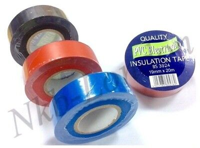 High Quality PVC Electricians Electrical Insulation Tape 19mm x 20M BUY 3+1 FREE