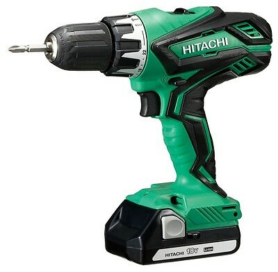 Hitachi DV18DJL Drill Driver with Percussion, Lithium Battery, 18 V/1,5 Ah