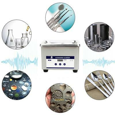 Digital Ultrasonic Cleaner Jewelry Dental Ultrasound Sterilizer Machine EU Plug