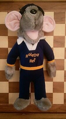 Vintage Roland Rat Soft Toy 1983 Original and official merchandise Hasbro 14""