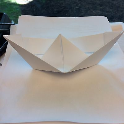 "Paper Boat, made by ""The Paper Boat Guy on eBay"""