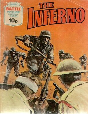1975 No 953 W33452 Battle Picture Library  THE INFERNO