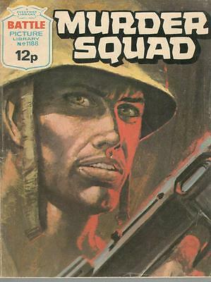 1978  No 1188 38437 Battle Picture Library  MURDER SQUAD