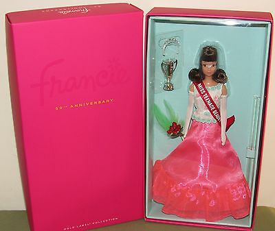 50th Anniversary Francie Doll NRFB #DKN06 2016 Barbie Fan Club Excl. 4000 pieces